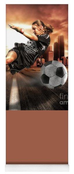 Soccer Girl Yoga Mat
