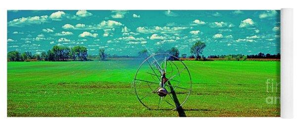 Sod Farm Irrigator Ill Country Roads  Yoga Mat