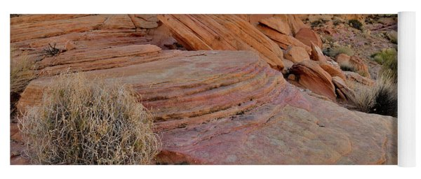 Soft Colors Of Valley Of Fire Yoga Mat