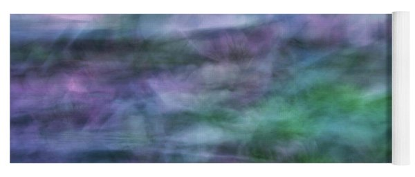 Soft Flowing Abstract Background With Purples, Blues And Green Lines And Shapes Yoga Mat