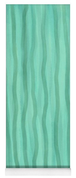 Soft Green Lines Yoga Mat