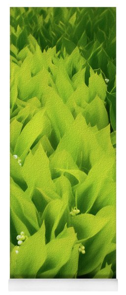 Yoga Mat featuring the photograph Soft Green by Mike Braun