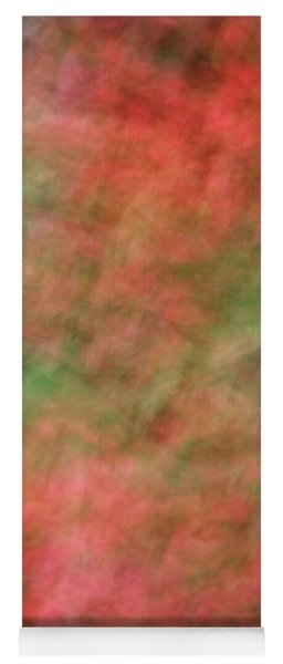 Soft Pastel Abstract Shapes Background With Oranges And Greens Yoga Mat