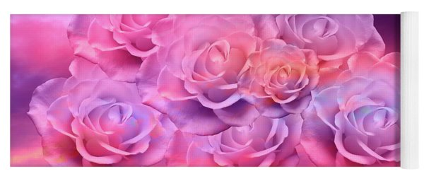 Soft Roses Art Work Yoga Mat