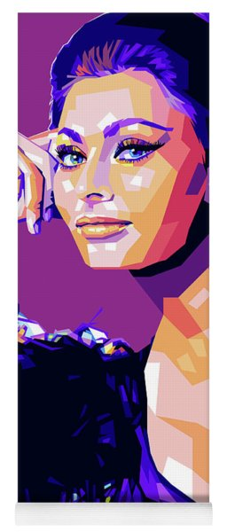 Sophia Loren Pop Art Yoga Mat
