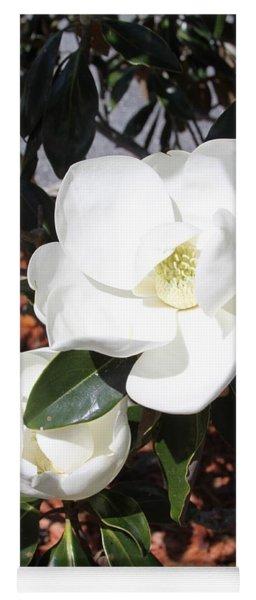 Sosouthern Magnolia Blossoms Yoga Mat