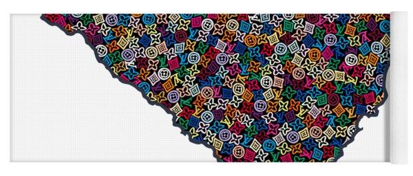 South Carolina Map - 1 Yoga Mat