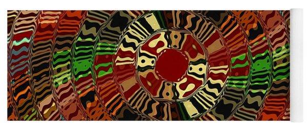 Southwestern Sun Swirl Yoga Mat
