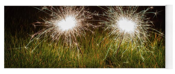 Yoga Mat featuring the photograph Sparklers In The Grass by Scott Lyons