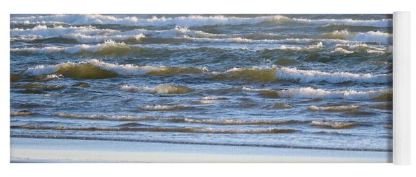 Sparkling Waves With Beach Yoga Mat