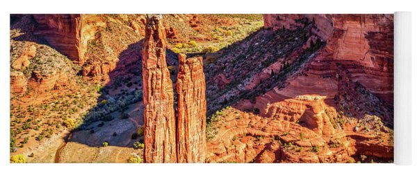 Yoga Mat featuring the photograph Spider Rock by Andy Crawford