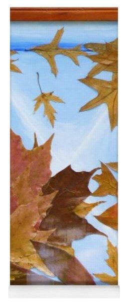 Splattered Leaves Yoga Mat