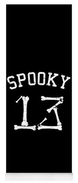 Spooky 13 Halloween Jersey Yoga Mat