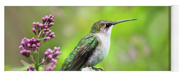 Spring Beauty Ruby Throat Hummingbird Yoga Mat