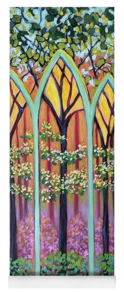 Spring Cathedral Yoga Mat