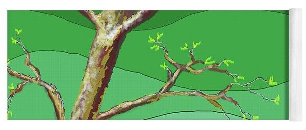 Spring Errupts In Green Yoga Mat