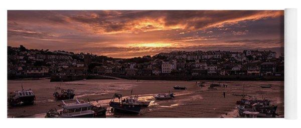 St Ives Cornwall - Harbour Sunset Yoga Mat