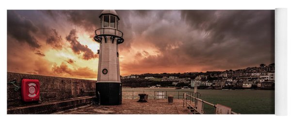 St Ives Cornwall - Lighthouse Sunset Yoga Mat