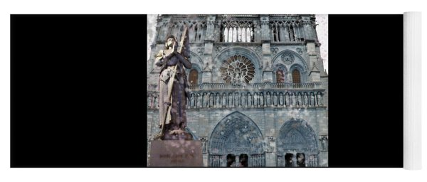 St Joan Of Arc Watch Over Notre Dame Yoga Mat