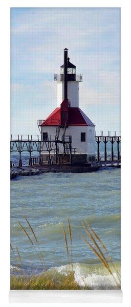 St. Joe, Michigan Lighthouse Yoga Mat