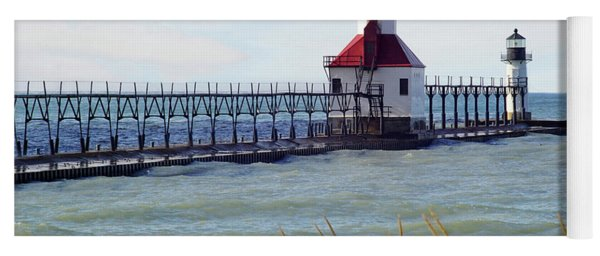 St. Joe Michigan Lighthouse Yoga Mat