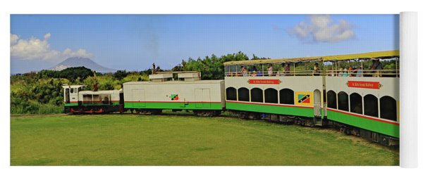 Yoga Mat featuring the photograph St Kitts Railway by Tony Murtagh