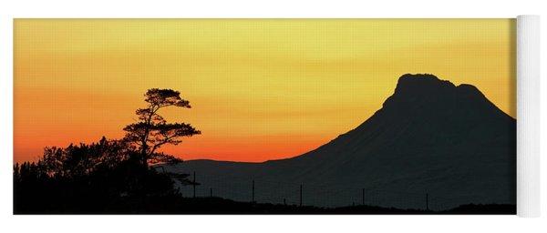Stac Polly Mountain Sunset Yoga Mat