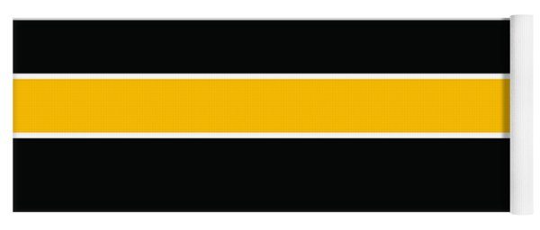 Stacked - Black And Yellow Yoga Mat