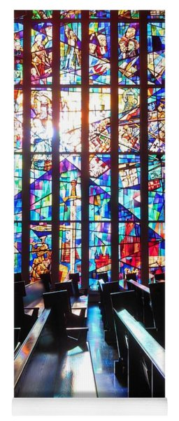 Stained Glass Historical Our Lady Of Czestechowa Shrine Yoga Mat