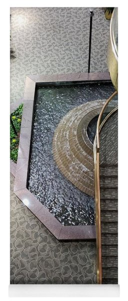 Stairs And Fountain  Yoga Mat