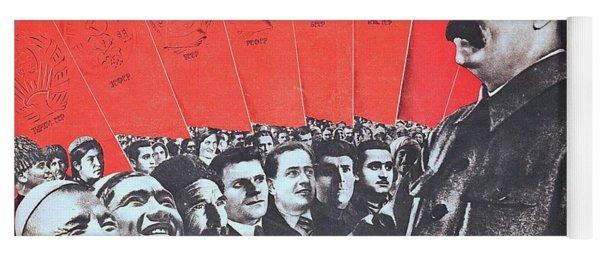Stalin, Soviet Propaganda Poster 1935 Yoga Mat