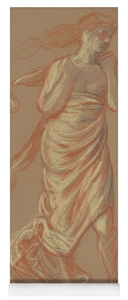 Standing Draped Female Figure Yoga Mat