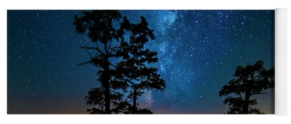 Yoga Mat featuring the photograph Star Gazers by Andy Crawford
