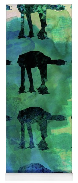 Star Ground Warrior Collage Watercolor 1 Yoga Mat