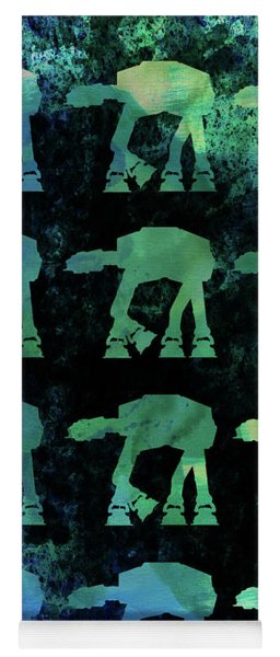 Star Ground Warrior Collage Watercolor 2 Yoga Mat