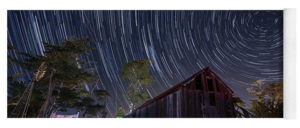 Star Trails Over Bonetti Ranch Yoga Mat