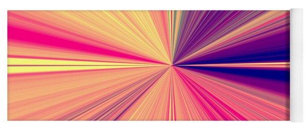 Starburst Light Beams In Abstract Design - Plb457 Yoga Mat