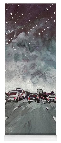 Starry Night Traffic Yoga Mat