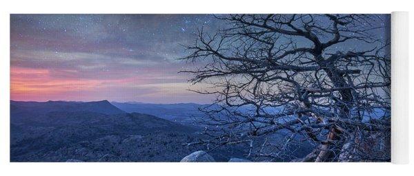 Stars Over Pine On Mount Scott, Wichita Yoga Mat
