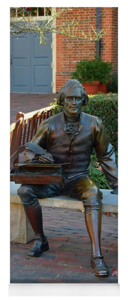 Statute Of Thomas Jefferson Yoga Mat