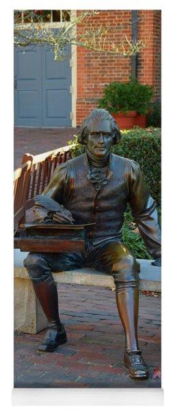 Statute Of Thomas Jefferson Yoga Mat