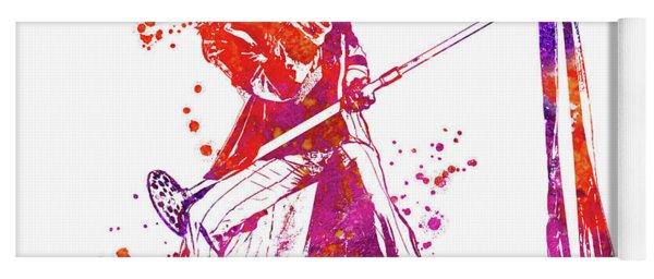 Steven Tyler Microphone Aerosmith Watercolor 03 Yoga Mat