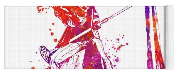 Steven Tyler Microphone Aerosmith Watercolor 04 Yoga Mat