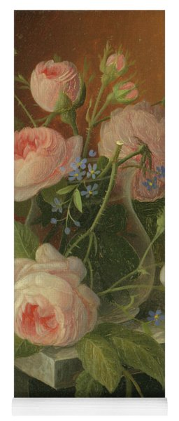 Still Life With Roses, Circa 1860 Yoga Mat