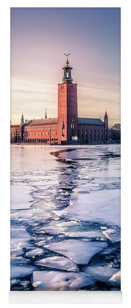 Stockholm City Hall In Winter Yoga Mat