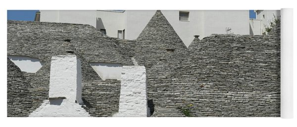 Stone Coned Rooves Of Trulli Houses Yoga Mat