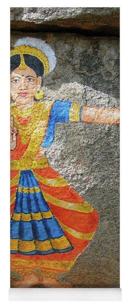 Stone Painting Of Nautch Dancing Gir Yoga Mat