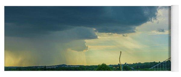 Storm Approaching Amusement Park Yoga Mat