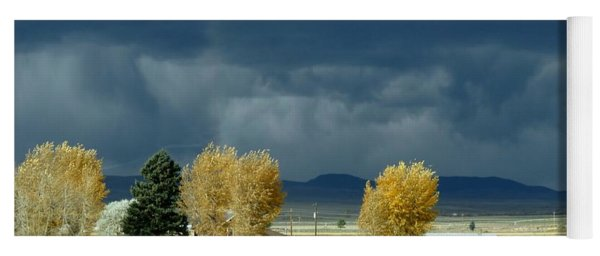 Yoga Mat featuring the photograph Storm Brewing by Rosanne Licciardi