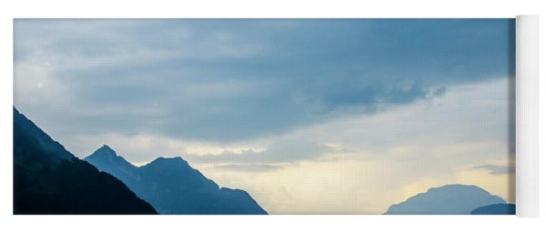 Storm Clouds On Lake Lucerne Yoga Mat
